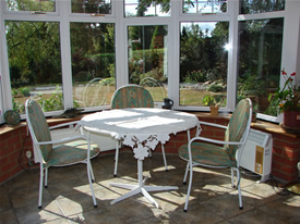 Breakfast Conservatory at Wych Elm B&B in Danbury, Chelmsford, Essex